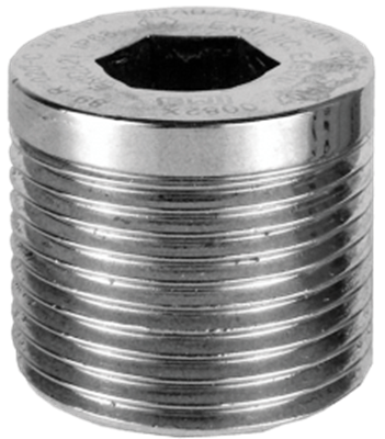 """PDAPLUG50 1/2"""" NPT 316 Stainless Steel Stopping Plug with Approvals"""