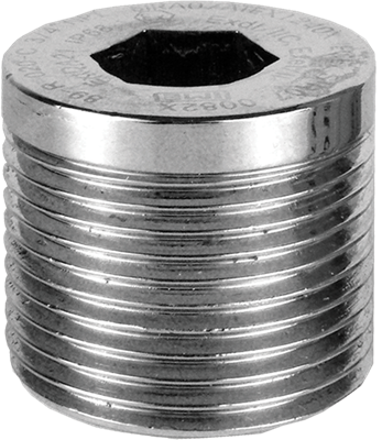 """PDAPLUG75 3/4"""" NPT 316 Stainless Steel Stopping Plug with Approvals"""