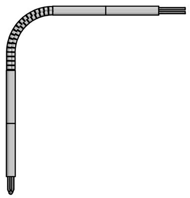 Angle Base-Metal Thermocouple Element
