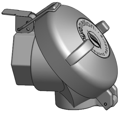 Series 49 Die-Cast Aluminum Flip-Top Connection Head