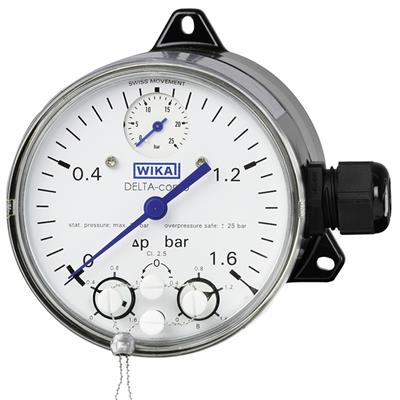 Model DPGS40TA Differential Pressure Gauge with Micro Switch
