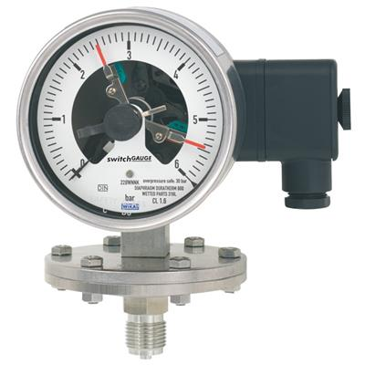 Model PGS43.100, PGS43.160 Diaphragm Pressure Gauge with Switch Contact