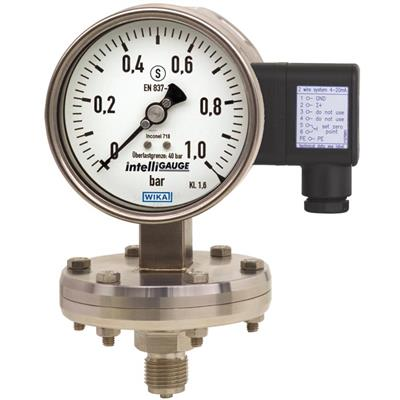 Model PGT43HP.100, PGT43HP.160 Diaphragm Pressure Gauge with Output Signal