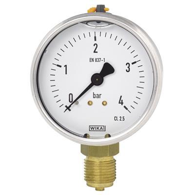 Bourdon Tube Pressure Gauge, Copper Alloy - 113.53