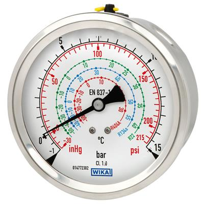Bourdon Tube Pressure Gauge, Copper Alloy or Stainless Steel - 112.28, 132.28
