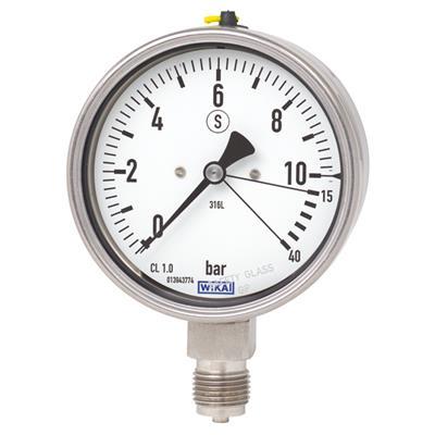 Bourdon Tube Pressure Gauge, Stainless Steel - 232.36, 233.36