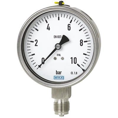 Bourdon Tube Pressure Gauge, Stainless Steel - 232.50, 233.50
