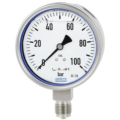 Bourdon Tube Pressure Gauge, Stainless Steel - PG23LT