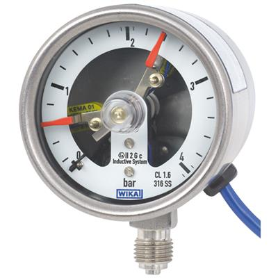Bourdon Tube Pressure Gauge with Switch Contacts - PGS23.063