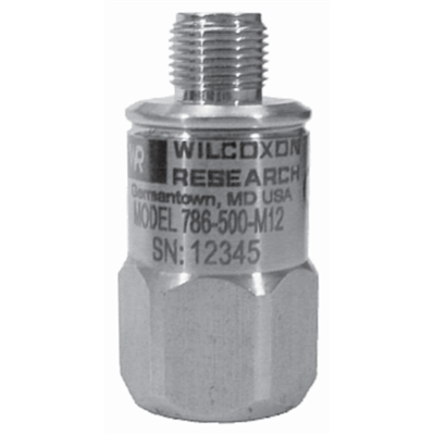 Model 786-500-M12-D2 Class I Division 2 Certified Low-Frequency Accelerometer