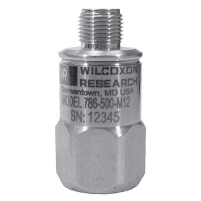 Model 786-500-M12-IS Low-Frequency Intrinsically Safe Accelerometer