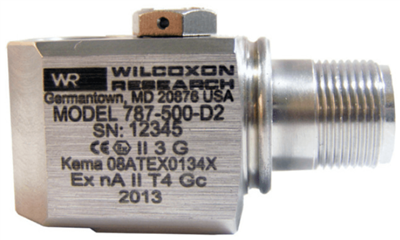 Model 787-500-D2 Class I, Division 2 Certified Low-Frequency Accelerometer