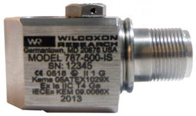Model 787-500-IS Low-Frequency Intrinsically Safe Accelerometer
