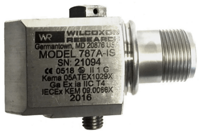 Model 787A-IS Intrinsically Safe Certified Low Profile Accelerometer